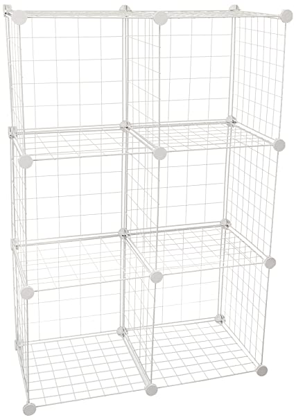 Genial Honey Can Do SHF 03521 Modular Mesh Storage Cube, 6 Pack