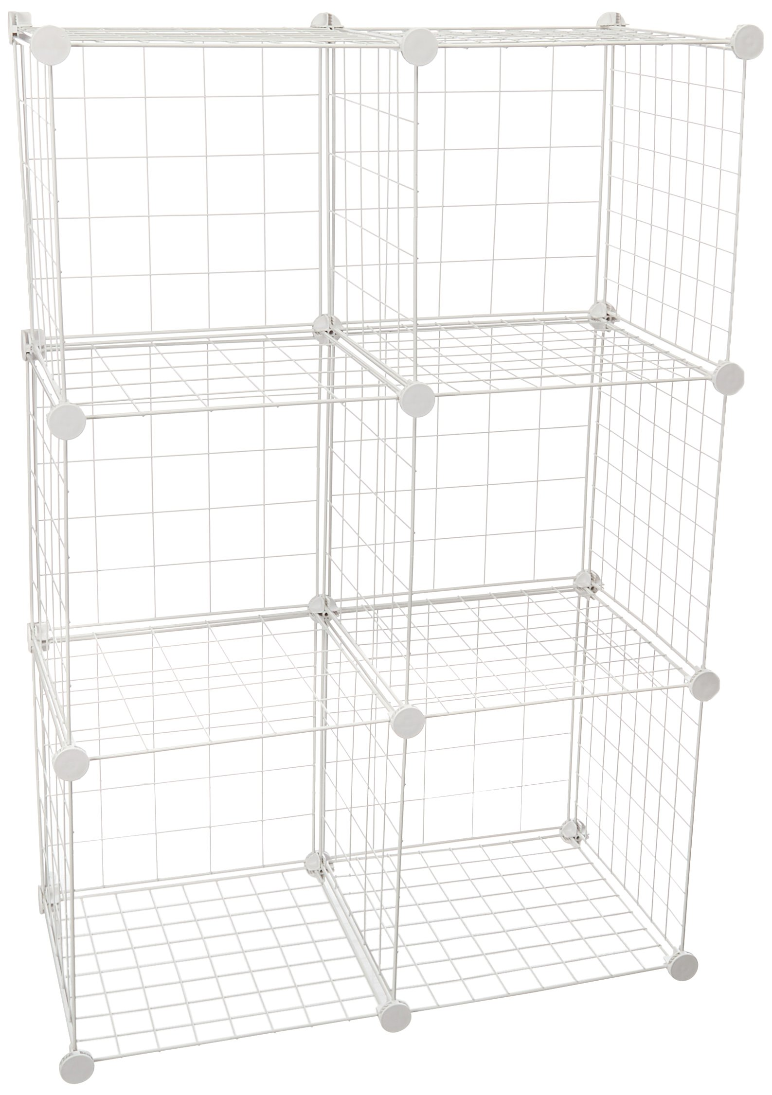 Honey-Can-Do SHF-03521 Modular Mesh Storage Cube, 6-Pack, White, 43Hx29W