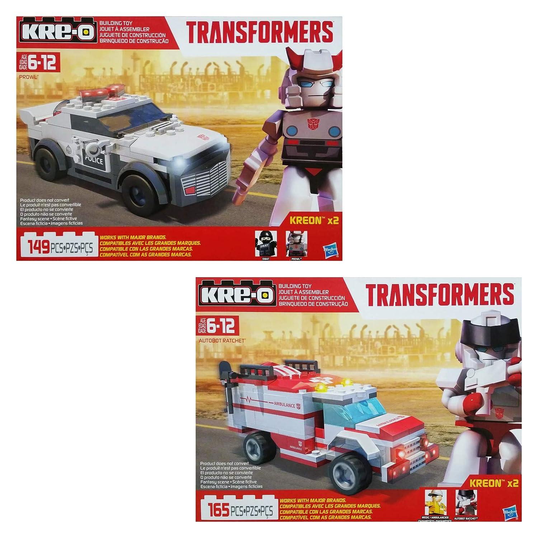kre-o TransformersレンガボックスMicro Changerバンドルwith Optimus Prime、Bumblebee、Cliffjumper、バリケード&コレクションの1、2、3、4 &プレビューシリーズBlindバッグ( 1 Each )   B01M8KZE8F