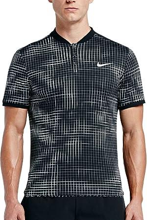 Nike Herren Polo Court Advantage Polo WeißSchwarz