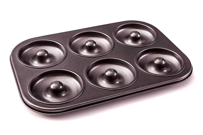 Donut Poê le –  Premium 6 tasses & Bagel Donut Maker –  sans PFOA pour une maison Plus saine au four Donuts. Doh!nuts DONUTBLACK1