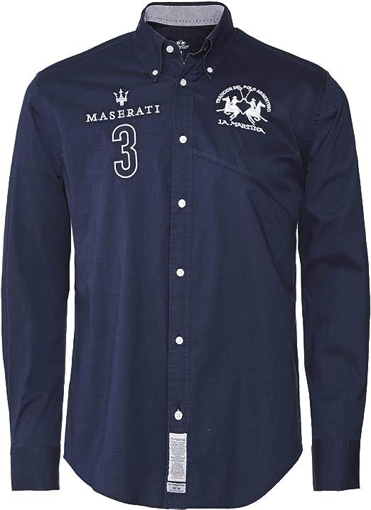 La Martina Hombres Camisa Fit Ollolai Regular Marina De Guerra XL: Amazon.es: Ropa y accesorios