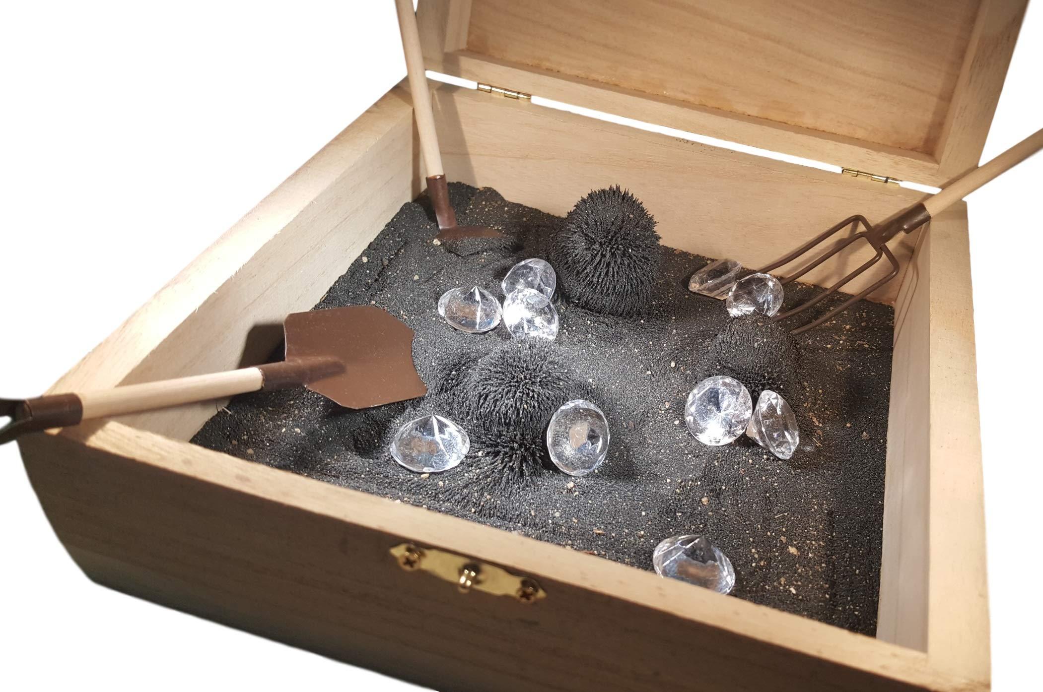 MagZen Diamonds - Unique Magnetic Zen Garden Zen Box, Tabletop/Desktop Zen Garden Kit for Relaxation, Stress Relief, Creativity and Magnetic Science