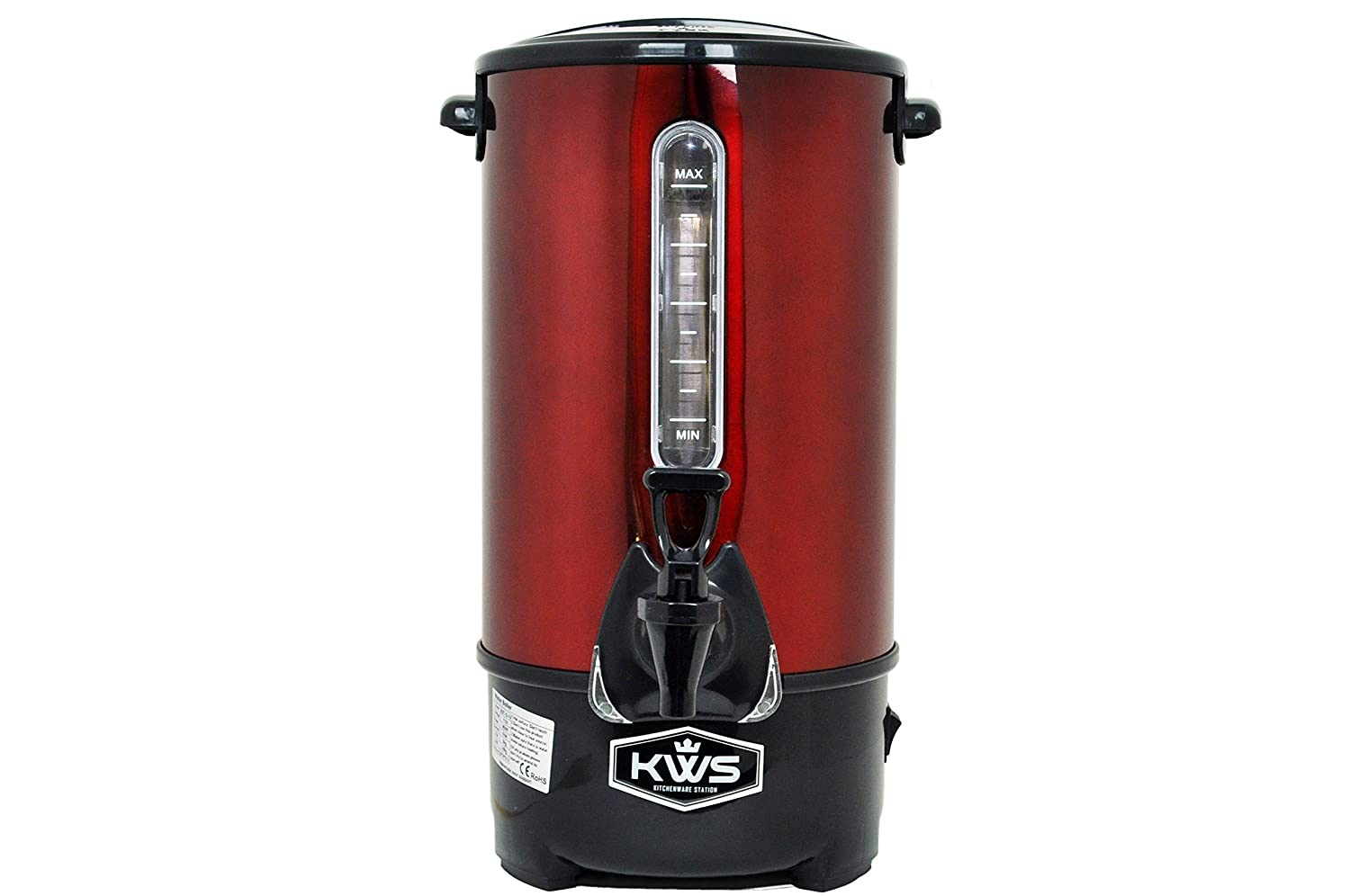 KWS WB-30 19.5L/ 83Cups Commercial Heat Insulated Water Boiler and Warmer Stainless Steel (Blue) KitchenWare Station WBB-30