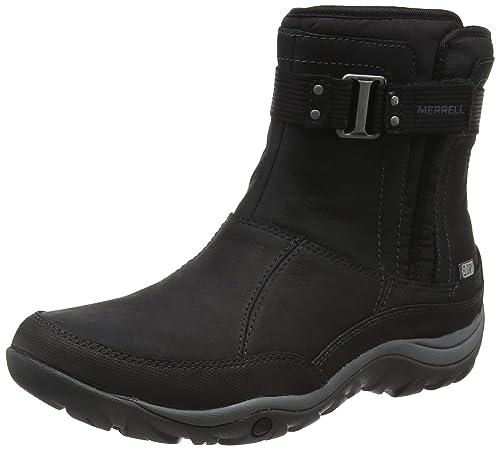 Merrell Women's Murren Strap Waterproof Snow Boots, Black (Black), 3.5 UK 36