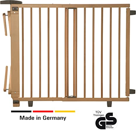 Geuther 2735 NA - Barrera de seguridad con bisagra para puertas, color natural: Amazon.es: Bebé