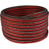 Bullz Audio BPES16.25 25' True 16 Gauge AWG Car Home Audio Speaker Wire Cable Spool (Clear Red/)