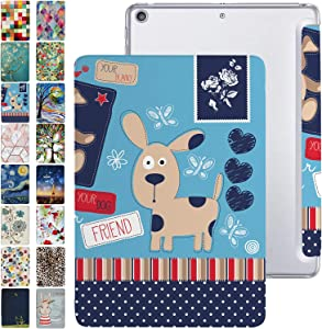 DuraSafe Cases For iPad 9.7 Case iPad 2018 6th / 2017 5th Gen with Slim Fit Dual-Angel Stand & Hard PC Clear Back [Smart Cover] for 9.7