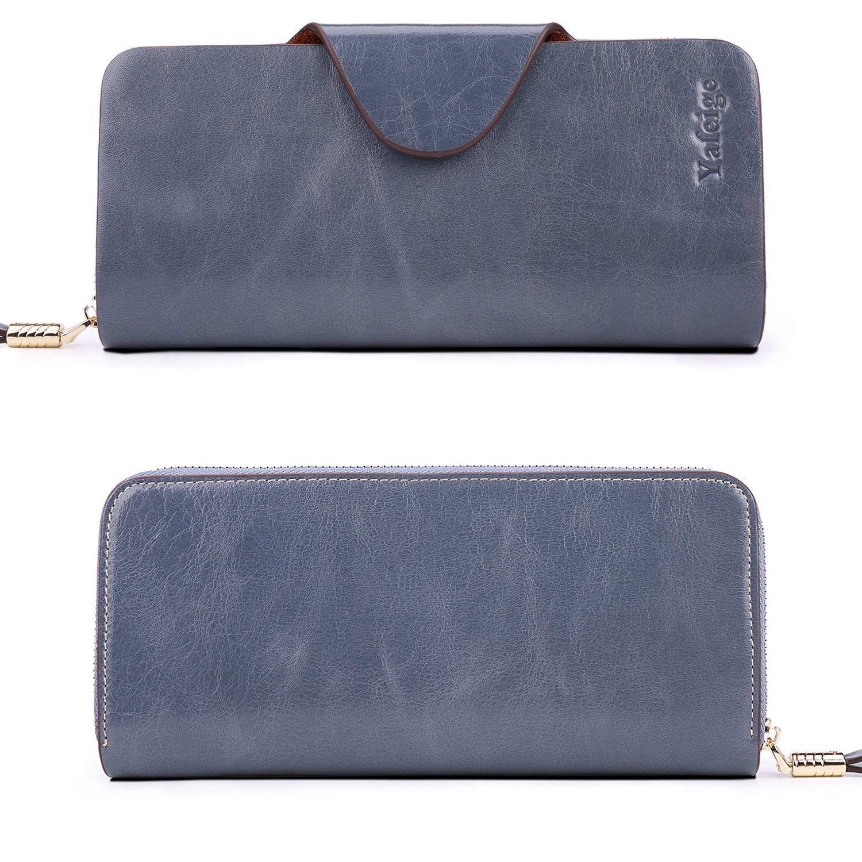 4c068406f11 Yafeige Large Luxury Women's RFID Blocking Tri-fold Leather Wallet Zipper  Ladies Clutch Purse YFG1682-Black [1540895403-16147] - $20.78