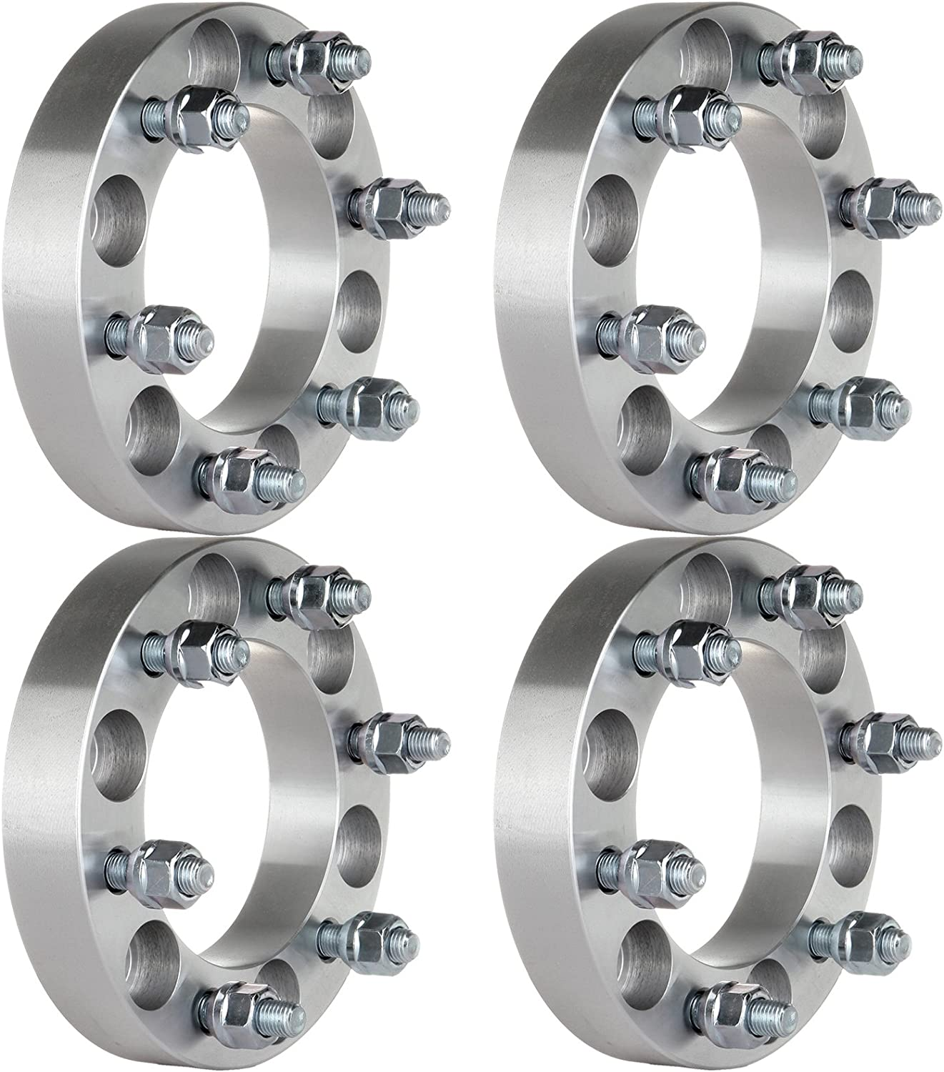 2X WHEEL RIM ADAPTERS SPACERS 6X5 TO 6X5.5 /& 6X135 TO 6X139.7 32MM 1.25 INCH