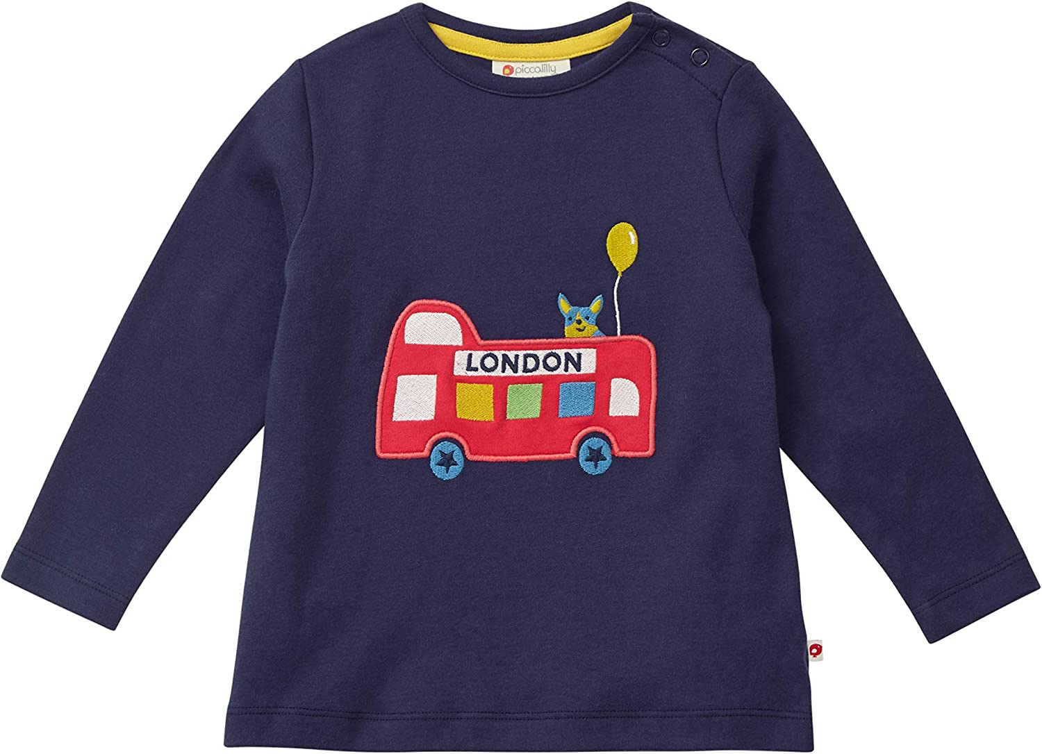 Navy Blue with Long Sleeves Limited Edition Souvenier Piccalilly Fun London Bus Top for Kids