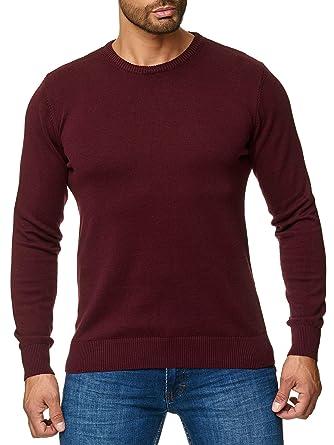zarte Farben gute Qualität Beste Jeel Herren Strickpullover Feinstrick - Rundhals - Slim-Fit/Figurbetont -  Hochwertige Baumwollmischung