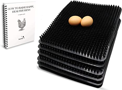 Easy Washable Nesting Pads for Hens Chicken Bedding and Hen House For Chicken Coops Poultry Perfect Chicken Nesting Pads x6 Raising Poultry Ebook Included Nesting Boxes Chicken Coop Supplies