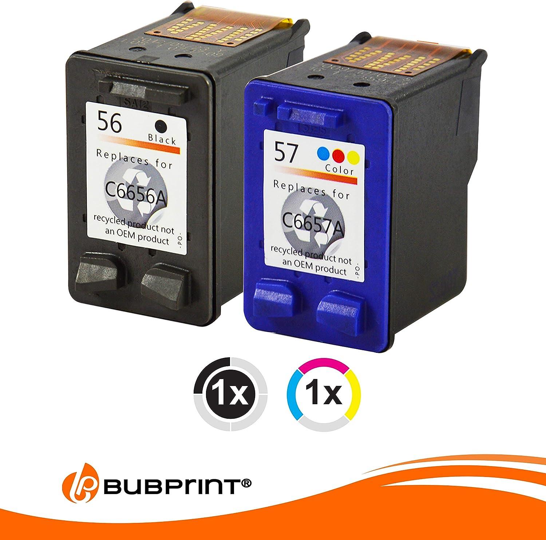2 Cartuchos de impresora para HP 56 + 57 HP DeskJet 450 5145 5150 ...
