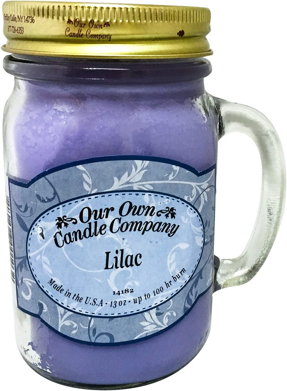 Our Own Candle Company Lilac Scented 13 Ounce Mason Jar Candle