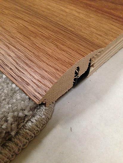Alfombra maciza a madera semirrama de suelo tapacubos puerta Threshold cubierta de madera de roble para
