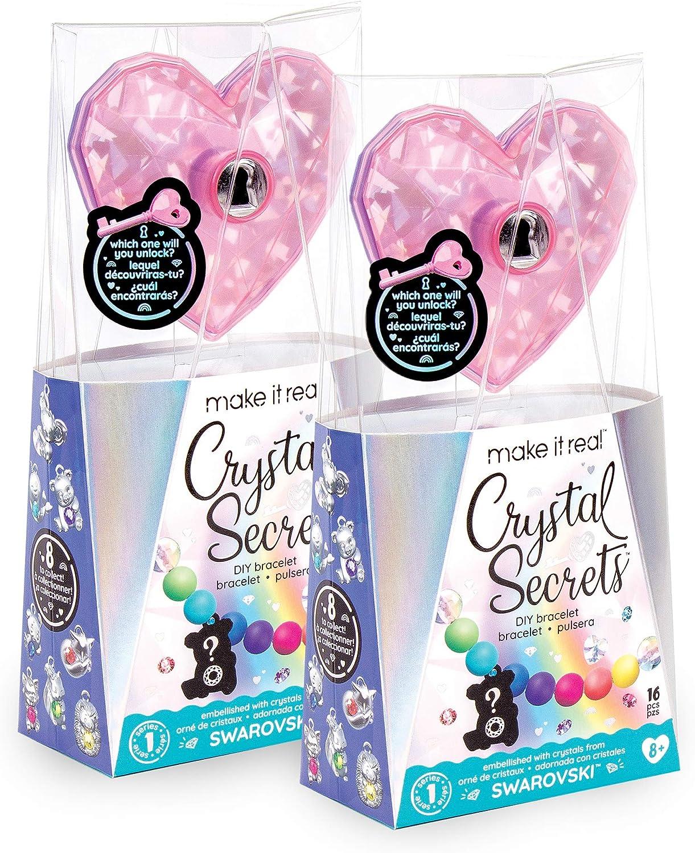 Swarovski Crystal Animal Charm Bracelet Crystal Secrets 2 Pack Make It Real DIY Rainbow Bead and Charm Bracelet Making Kit Jewelry Making Supplies for Girls