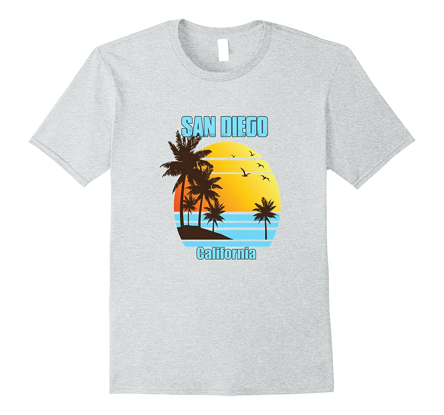 bfd024f72 San Diego California Family Vacation Shirt Sunset Palm Trees-BN ...