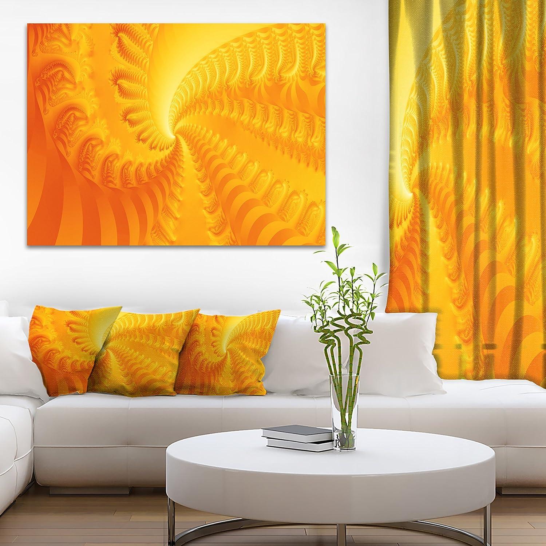 Amazon.com: Designart PT9009 20 12 Bright Yellow Abyss Abstract Art ...