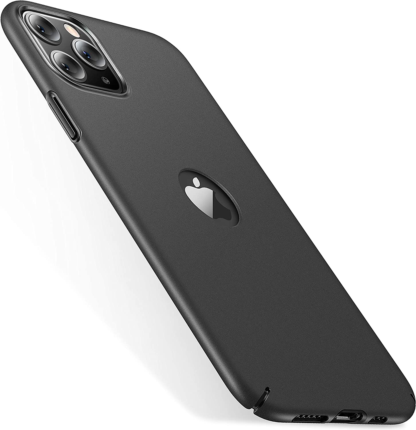 CASEKOO Logo Visible Compatible with iPhone 11 Pro Max Case, Upgraded [Slim Fit] Ultra Thin Hard Plastic Phone Cases, Durable Protective Cover for iPhone 11 Pro Max 6.5-inch 2019, Black
