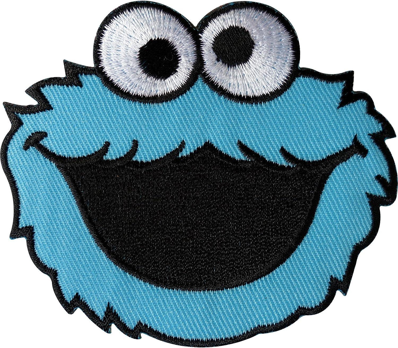 Monstruo de las galletas de Barrio Sésamo parche bordado hierro en/coser en la ropa emblema