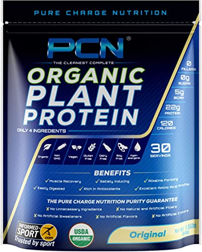 PCN Organic Vegan Protein Powder, Original 30 Servings