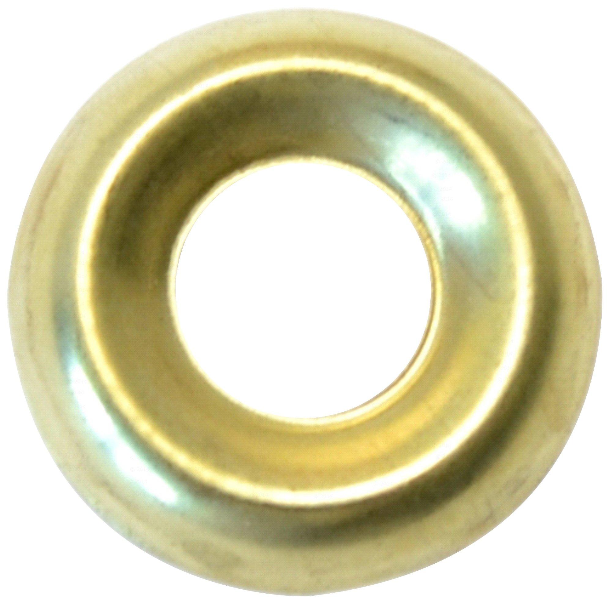 Hard-to-Find Fastener 014973436636 Finishing Washer Brass, 14, Piece-80