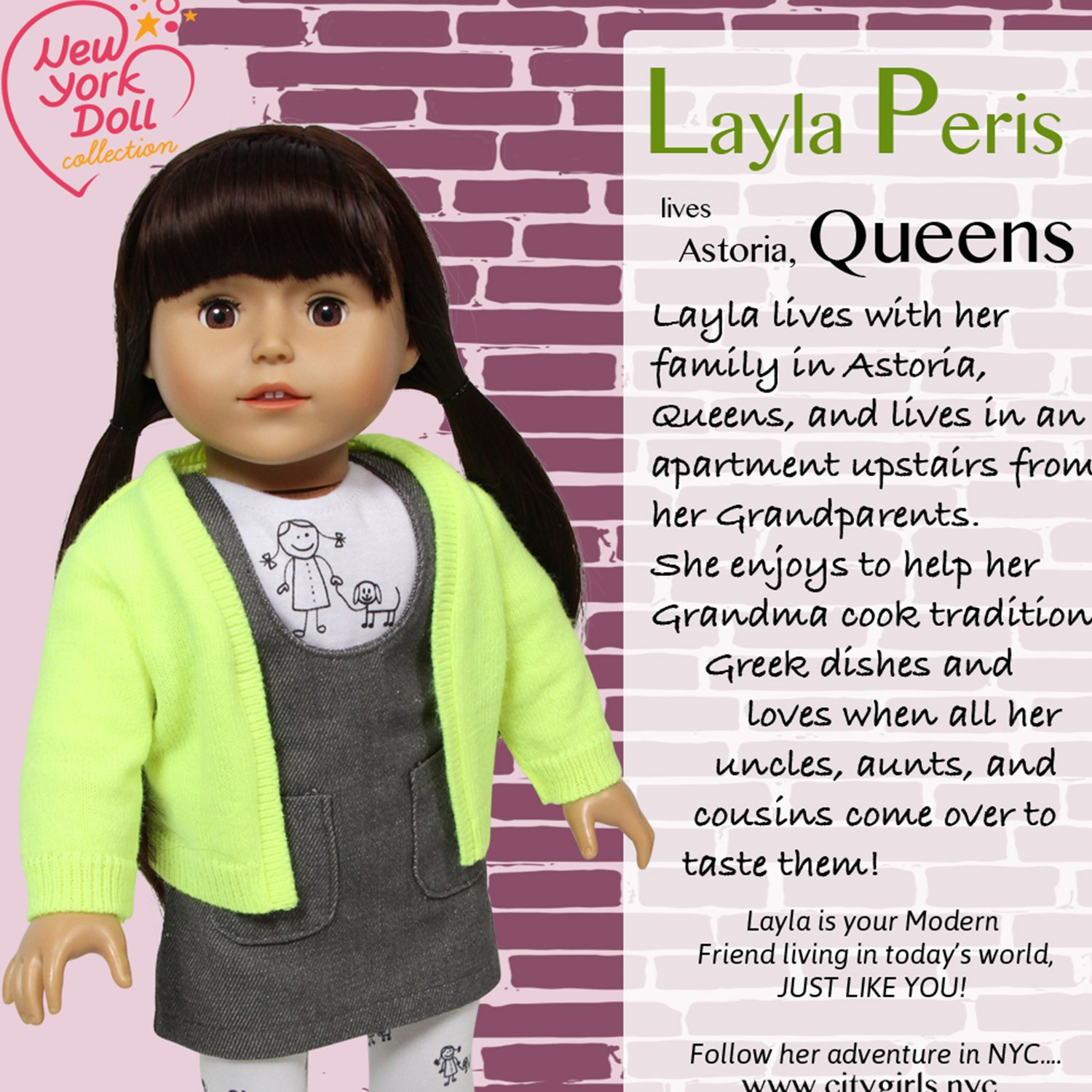 The New York Doll Collection City Girls 18 Inch Layla Amazon Free Patterns My Little Citygirl Toys Games