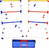 GoSports Premium Ladder Toss Outdoor Game Set with 6 Bolo Balls, Travel Carrying Case and Score Trackers - Choose Between Sta