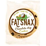 Fat Snax Cookies - Low Carb, Keto, and Sugar Free (Chocolate Chip, 6-Pack (12 Cookies))