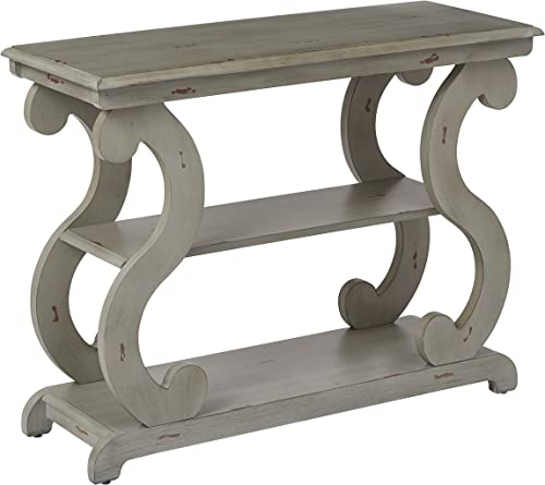 OSP Designs Ashland Console Table, Antique Grey