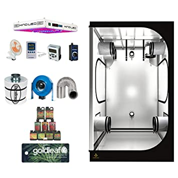 KIND LED XL750 LED Complete 4x4 Grow Tent Kit with carbon filter duct fan and more Amazon.co.uk Garden u0026 Outdoors  sc 1 st  Amazon UK & KIND LED XL750 LED Complete 4x4 Grow Tent Kit with carbon filter ...