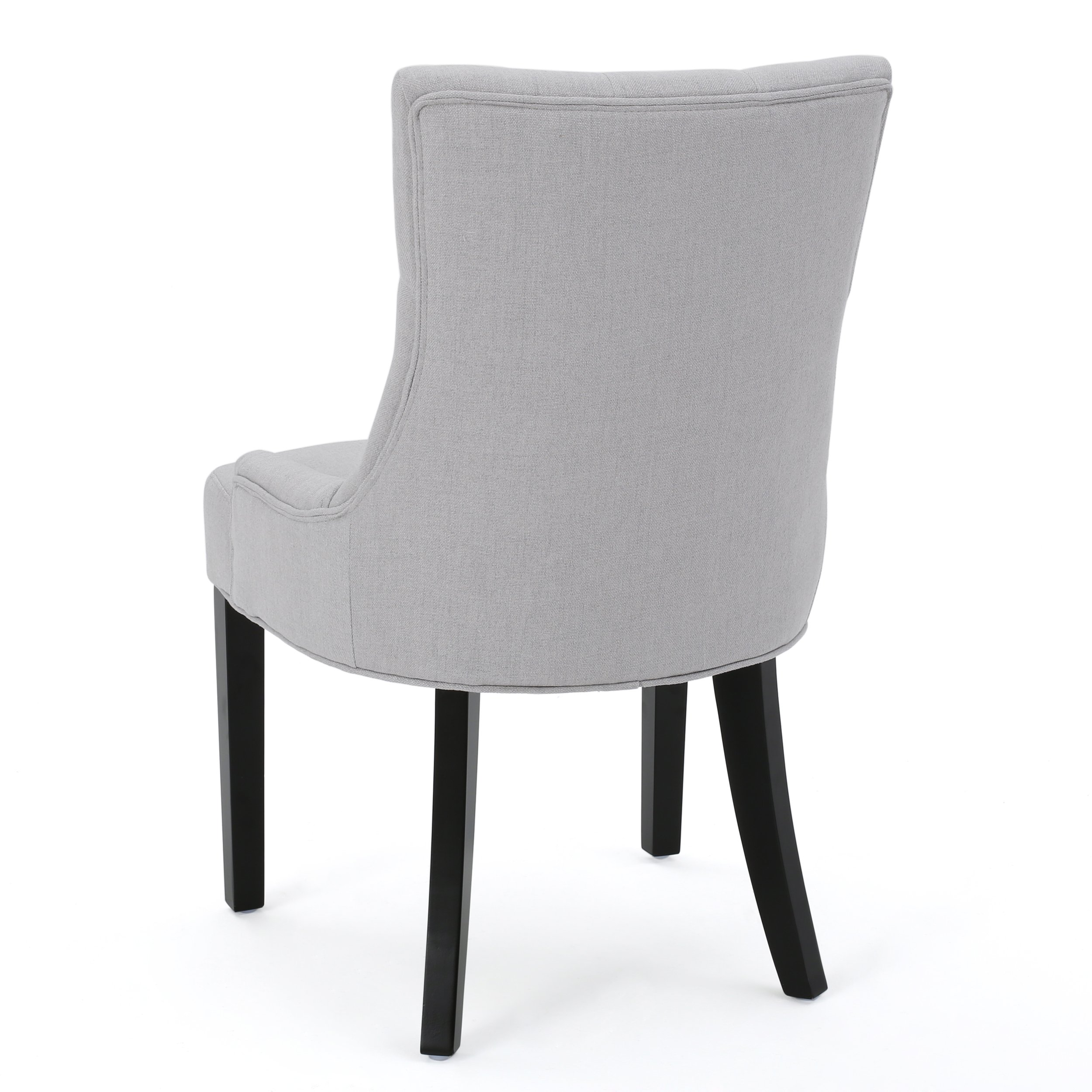 Christopher Knight Home 299538 Hayden Fabric Dining Chairs (Set of 2), Light Gray by Christopher Knight Home (Image #4)