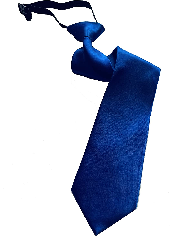 Pietro Baldini Cravatta con elastico blu Cravatta con nodo fisso