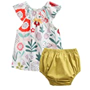 Toddler Baby Girls Shorts Pants Top Clothes Set Infant Cute Print 2 pcs Outfits Size 12M White