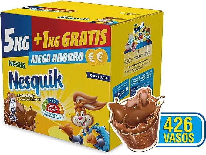Nestlé Nesquik - Paquete de cacao soluble, 1 unidad x 6 kg ...