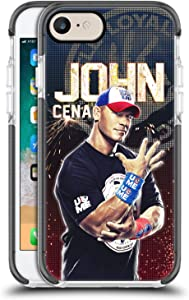 Head Case Designs Officially Licensed WWE John Cena Superstars Black Shockproof Gel Bumper Case Compatible With Apple iPhone 7 / iPhone 8 / iPhone SE 2020