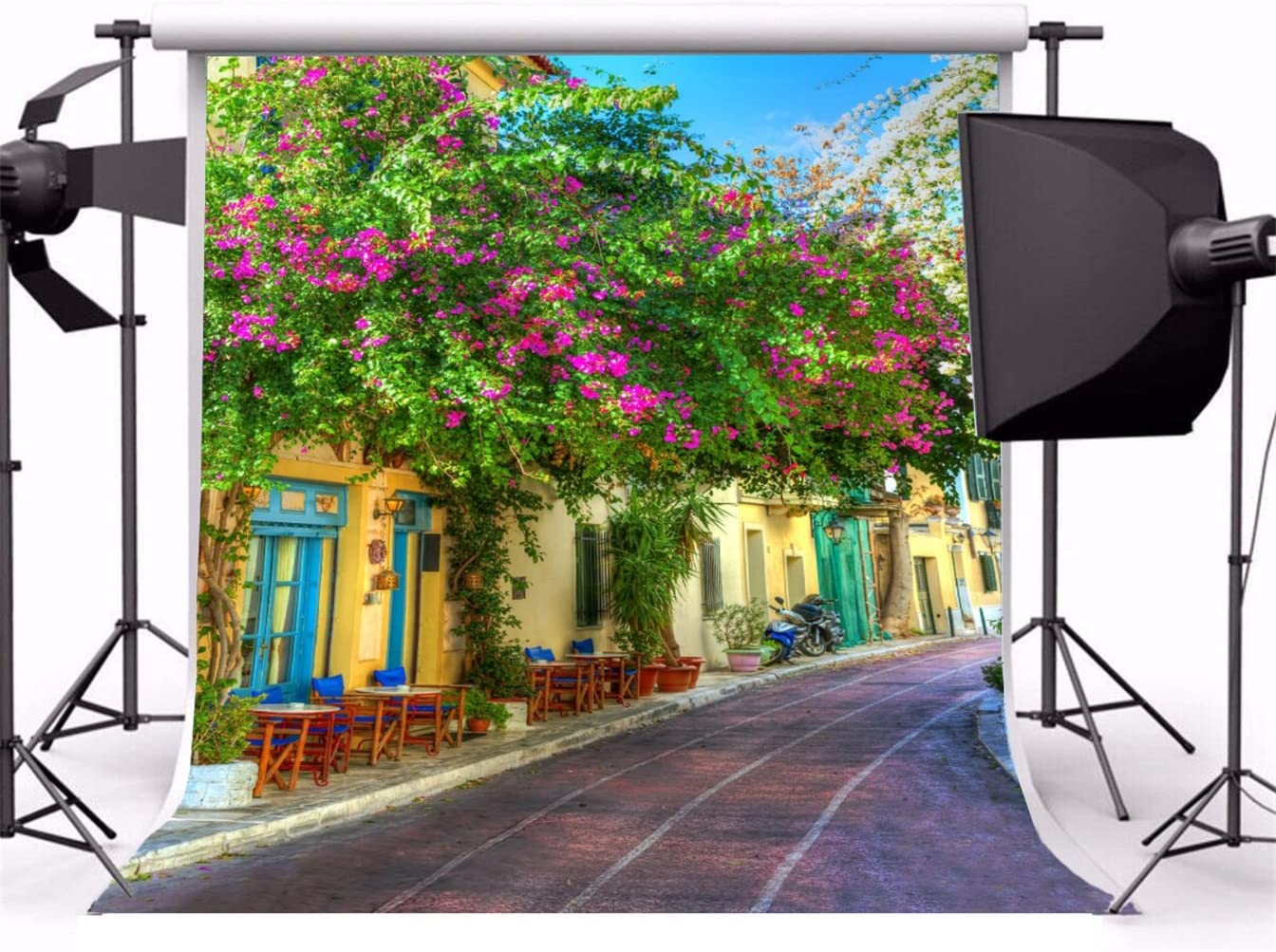 AOFOTO 10x10ft Photography Backdrop Background Wedding Painting Seaside Holy Church Blurry Floor Tree Toddler Girl Adult Lover Portrait Scene Photo Shoot Studio Props Video