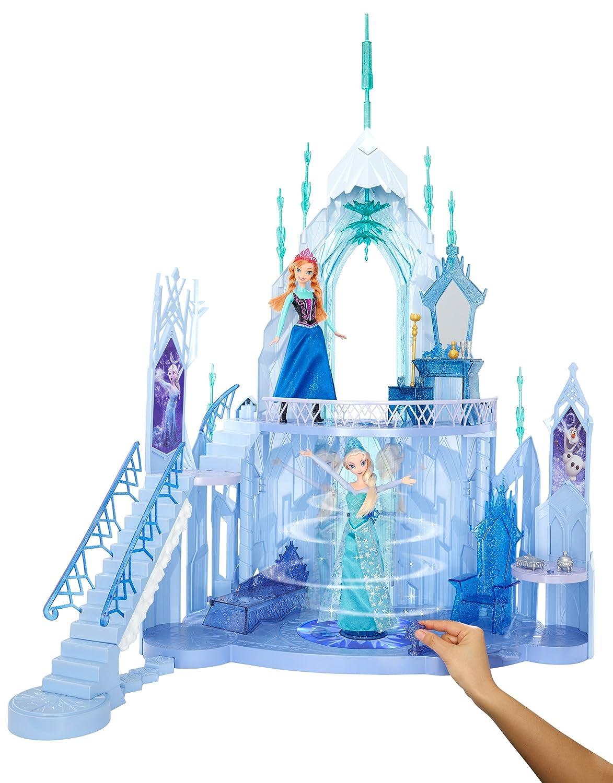 Mattel Disney Princess CMG65 Modepuppen und Zubehör Die Eiskönigin Elsas Eispalast Amazon Spielzeug