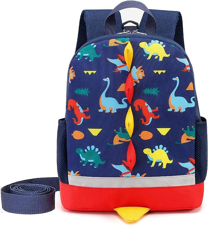 Kindes Cute Children Toddler Dinosaur Backpack for Kindergarten Pre School Kids Backpacks