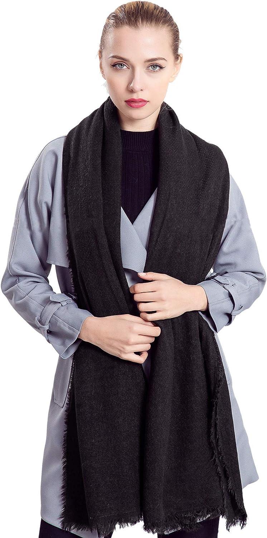 Alleza Sciarpa Donna Invernale in Cotone Inverno Lino Foulard Stola Scialle Inverno Caldo con Frange