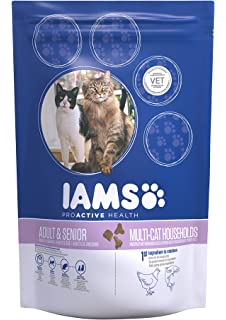 IAMS Proactive Health Adult & Mature & Senior Multi-Cat Households With Salmon & Chicken
