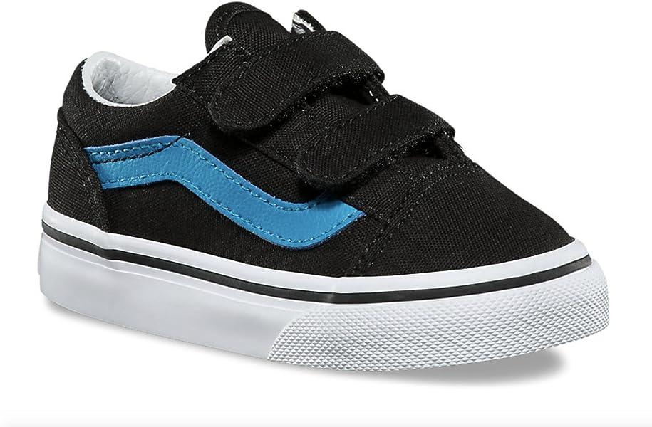 Vans Toddler Kids Old Skool V Velcro Skate Shoe (9.5 M US Toddler ... 3bf02d7f4