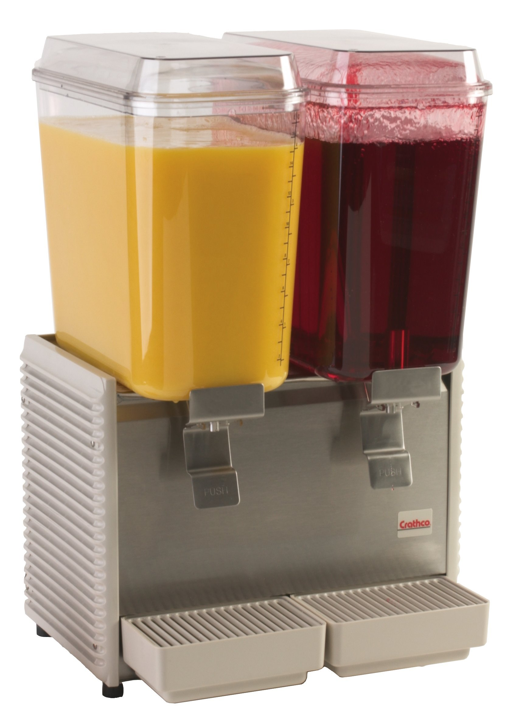 Grindmaster-Cecilware D25-4 Crathco Classic Bubblers Premix Cold Beverage Dispensers, 5-Gallon, Plastic/Stainless Steel Finish