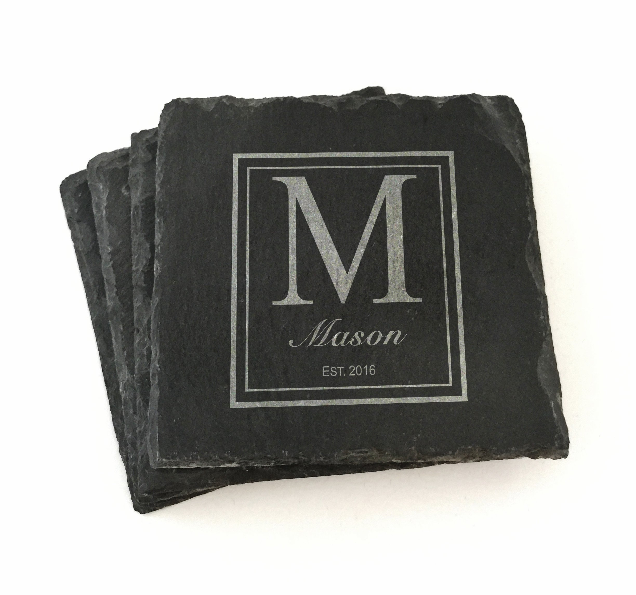 Custom Slate Coasters Personalized by The Personal Exchange