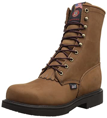e08e22e5153 Justin Original Work Men's Aged Bark Double Comfort Lace Up Steel Toe  Workboot