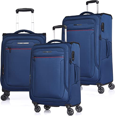 VERAGE Travel Luggage 3 Pieces Set Suitcase,Softshell Lightweight Durable Suitcase
