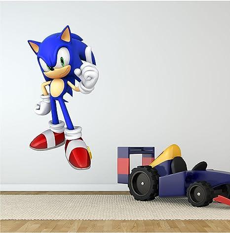 High Quality Amazon.com: Sonic #1 Wall Decal : Cartoon Sega Hedgehog Sticker Graphic  Kids Room Man Cave Garage Den Art Decor (18 Amazing Ideas