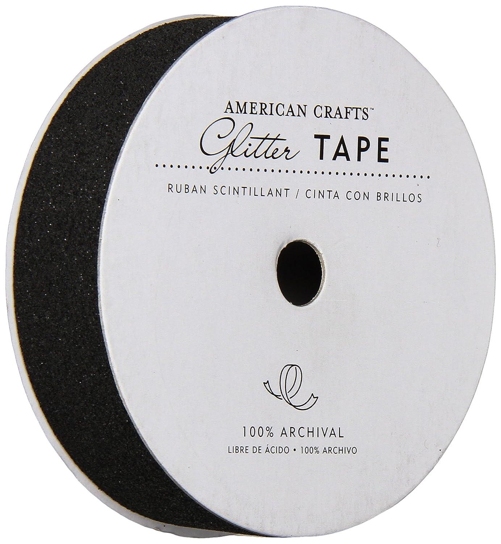American Crafts Glitter Tape, schwarz, 7/8Zoll