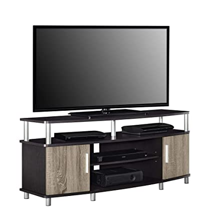 Ameriwood Home Carson Tv Stand For Tvs Up To 50 Espressoweathered Oak